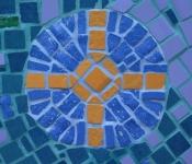Fragment mozaiki obrazu Noc (Norymberga Centrum Seniora Herpersdorf)